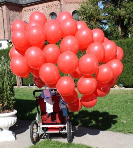 40 Ballons mit 40 Wünschen