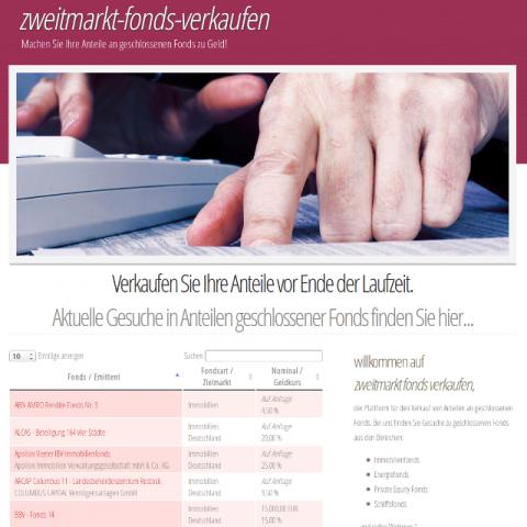 Screenshot Zweitmark Fonds verkaufen